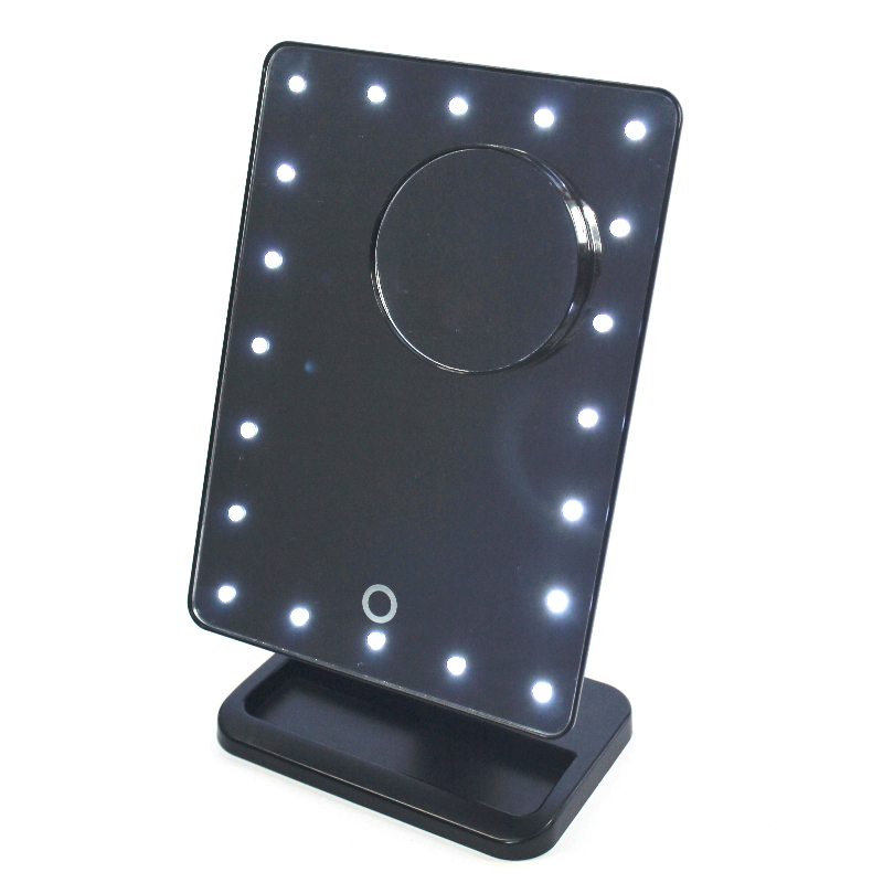 Makeup Mirror.Mm100b Led Makeup Mirror On Stand Black