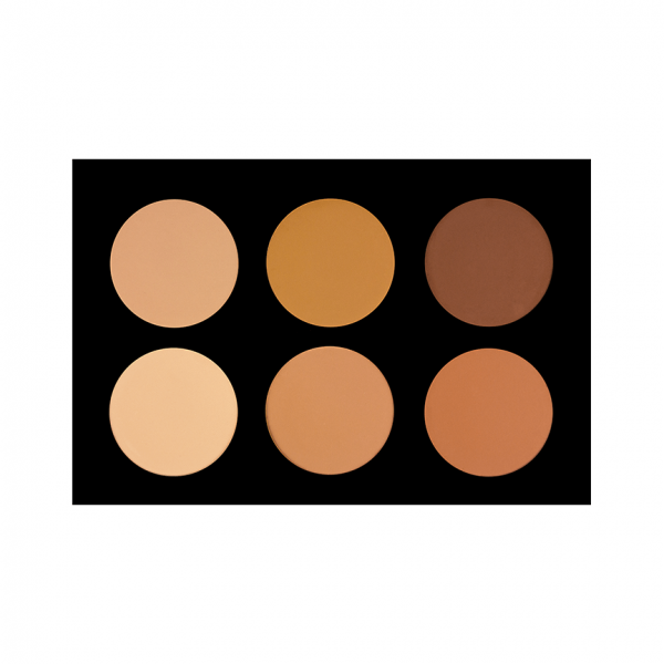 6 Colour Pressed Powder Foundation Palette